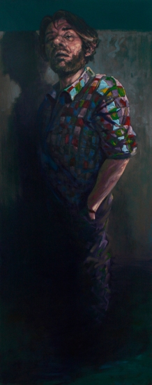 BZO, oil on canvas, 200 x 85 cm, 2013
