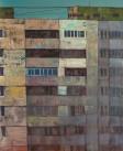 Gray cubes, oil on canvas, 110x100cm, 2014
