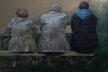 A matter of generations, oil on canvas, 140x200 cm, 2014
