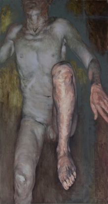 Fell; oil on canvas, 150 x 80 cm, 2009