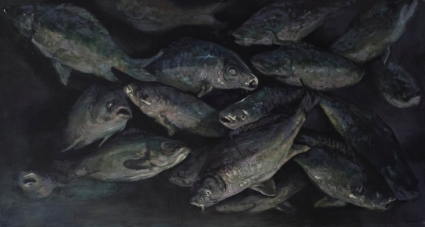 Fish tank, oil on canvas, 60x120 cm, 2014