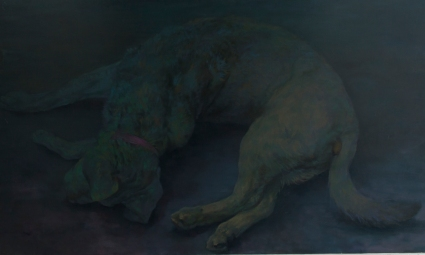 Playing dog, oil on canvas, 90x120 cm, 2012