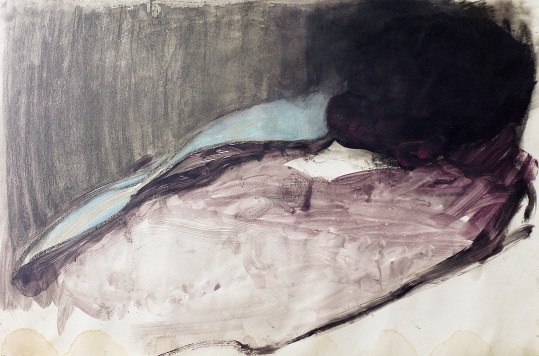 The sleeper 1, pastel and gouache on paper, 100x150 cm, 2011