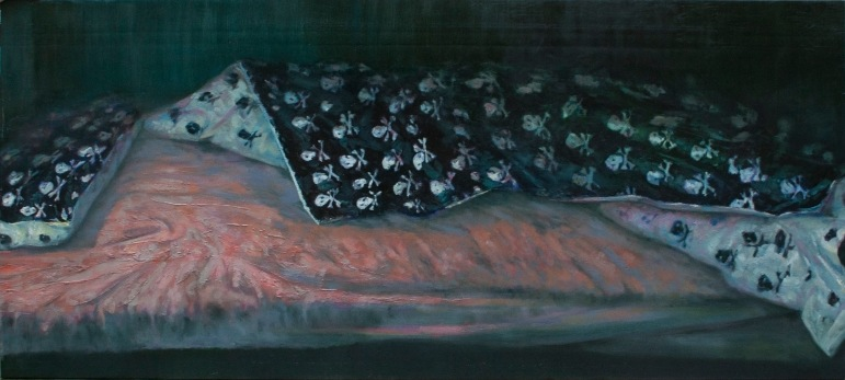 Bad bed, oil on canvas, 200x90 cm, 2013