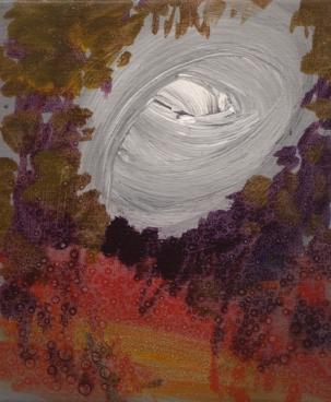 Clear Gray Sky, acrylic and oil on canvas, 25 X 20 cm, 2015