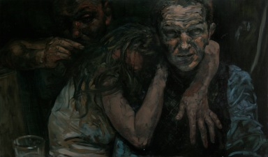 Company 2, oil on canvas, 120x60cm, 2009