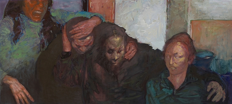 Company, oil on canvas, 200x90 cm, 2008