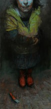 Cuttering 2, oil on canvas, 140x60 cm, 2010