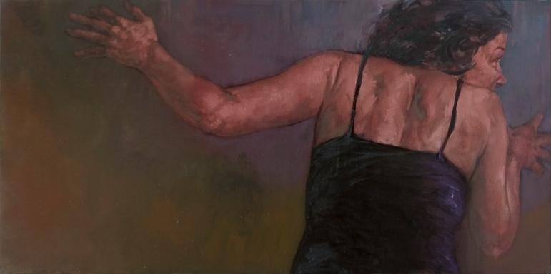 Diana 1, oil on canvas, 50 x 100 cm, 2009