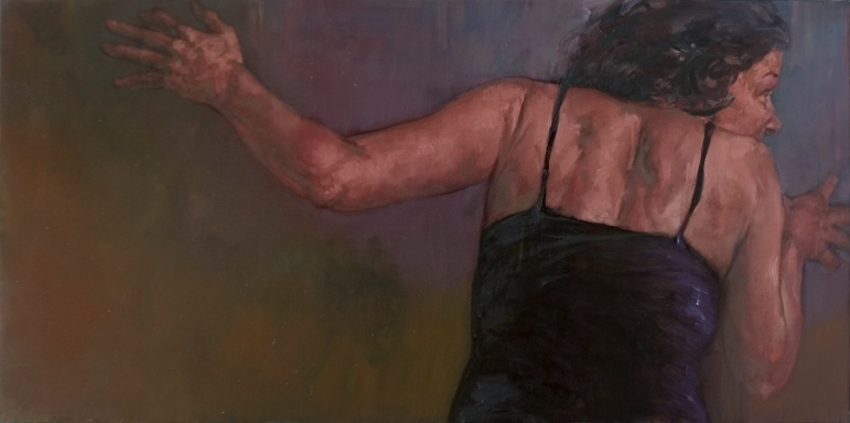 Diana 1, oil on canvas, 50 x 100 cm, 2009