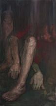 Face down, oil on canvas, 150 x 80 cm, 2009