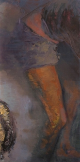 Idle 3; oil on canvas, 120 x 60 cm, 2008