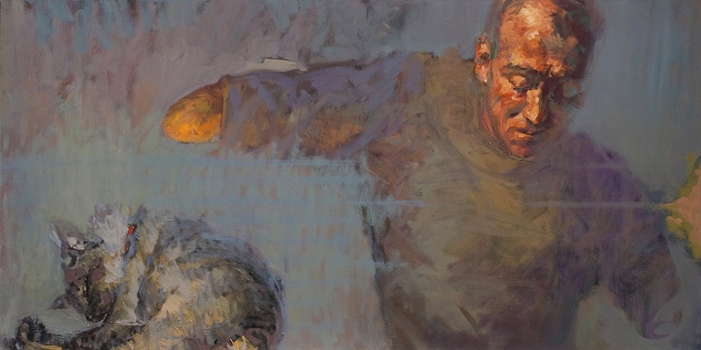 Idle 4, oil on canvas, 120 x 60 cm, 2008