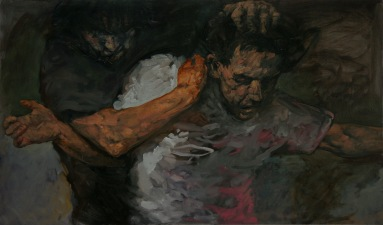 In the forest 2, oil on canvas, 120 x 60 cm, 2009