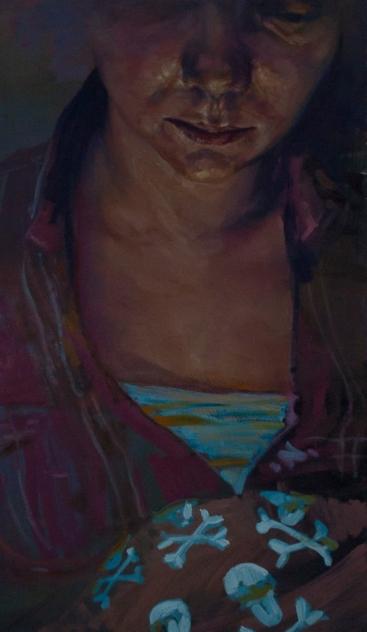 Lauborg, oil on canvas, 90x50 cm, 2013