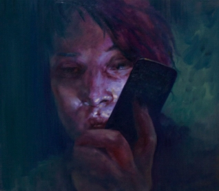phonelight, oil on canvas, 40x45 cm, 2013