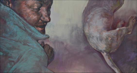 Rhyna, oil on canvas, 120x60cm, 2010