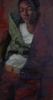 Self-portrait 11, oil on canvas, 150x80cm, 2010