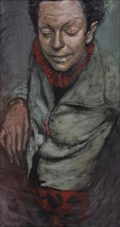 Shawl; oil on canvas, 150 x 80 cm, 2009