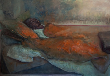 Sleep 14, oil on canvas, 200x140 cm, 2011