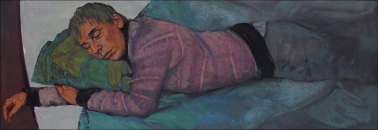 Sleep 2, oil on canvas, 40x140cm, 2010