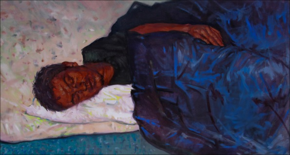 Sleep 4, oil on canvas, 60x120cm, 2010