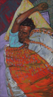 Sleep 5, oil on canvas, 60x120cm, 2010