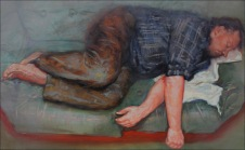 Sleep 6, oil on canvas, 90x145cm, 2010