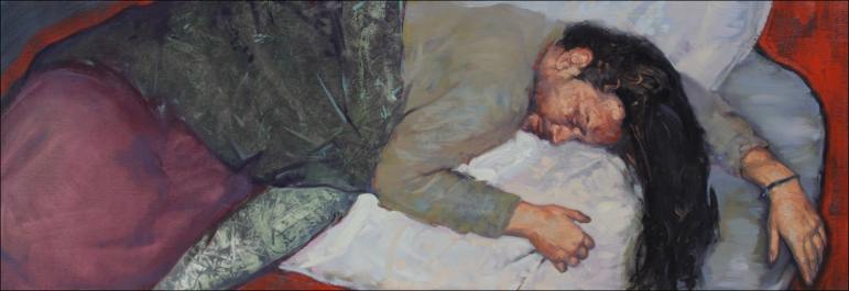 Sleep 7, oil on canvas, 400x145cm, 2010