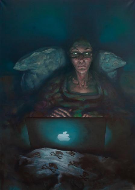 Social Light, oil on canvas, 140 x 100 cm, 2012