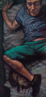 Taylor & Gil, oil on canvas, 135x60 cm, 2010