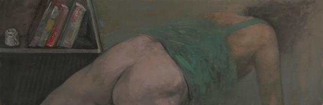 Teatime, oil on canvas, 110x45 cm, 2010