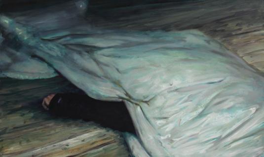 The dead torreador, oil on canvas, 90 X 150 cm, 2013-15