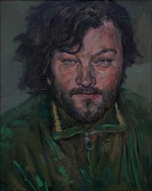 The flautist 1, oil on canvas, 30x40cm, 2010