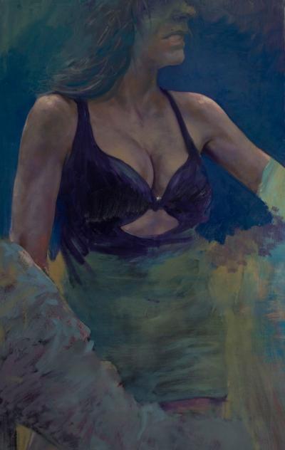 Velvet, oil on canvas, 120x70 cm, 2013