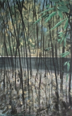 Study for Promenade plantee, acrylics on canvas, 90x60 cm, 2016