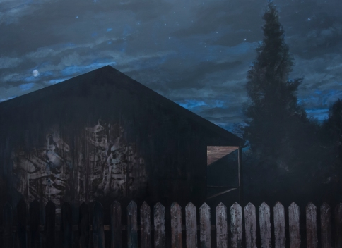 Beyond the Fence, oil on canvas, 225 X 300 cm, 2015
