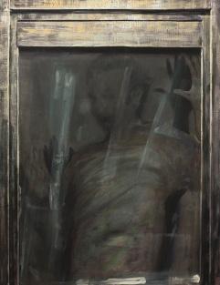 The voyeur, acrylics on canvas, aprox 120x100 cm, 2017