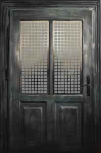The doorstep, acrylics on canvas, 180x110, 2017