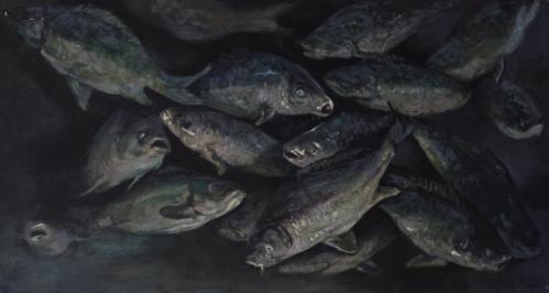 Fish tank, oil on canvas, 60x120 cm, 2014