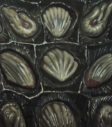 Chocolate, oil on canvas, 80x60cm, 2017
