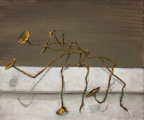 Flowers on the balcony, oil on canvas, 25x30, 2016