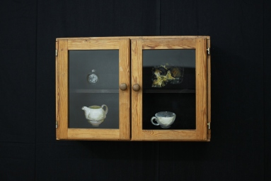 The Cabinet, 40 x 60 x 2 cm, glass paint on a cabinet, 2019 .JPG